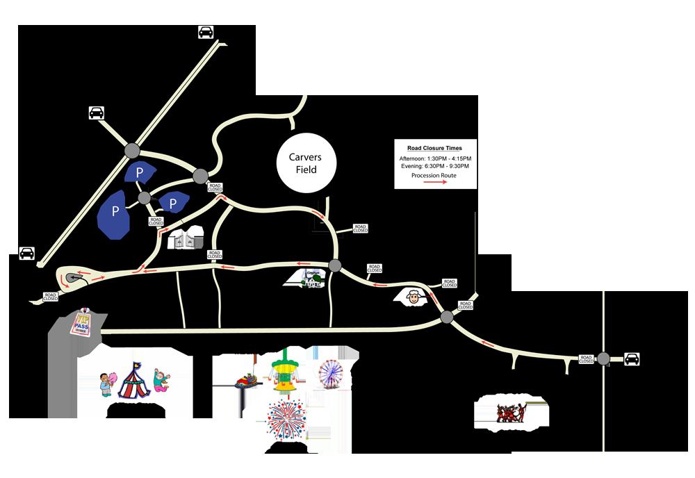 Ringwood Carnival Map