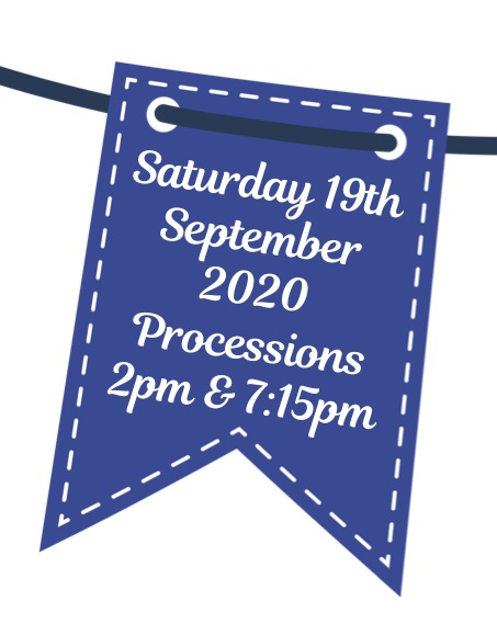 Ringwood Carnival bunting with 2020 date